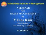"A Seminar on ""IMAGE MANAGEMENT"""