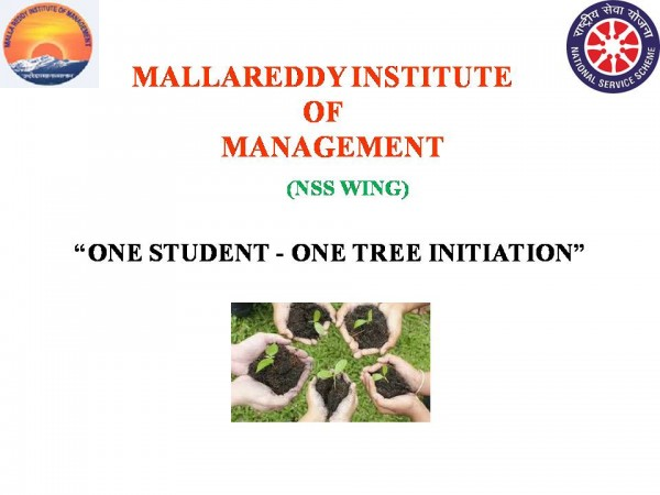 ONE STUDENT ONE TREE INITIATION